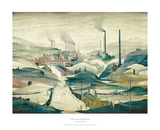 Industrial Panorama Poster av Laurence Stephen Lowry