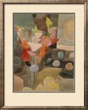 Still Life with Gladioli; Gladiolen Still Leben Framed Giclee Print by Paul Klee