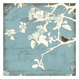Song Birds III - Blue Reproduction procédé giclée par Amy Melious