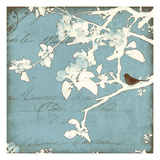 Song Birds III - Blue Giclee Print by Amy Melious