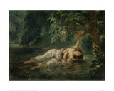 The Death of Ophelia, 1844 Giclee Print by Eugene Delacroix