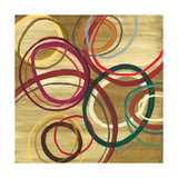21 Tuesday I - Bright Circle Abstract Premium Giclee Print by Jeni Lee