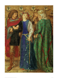 The First Madness of Ophelia Giclee Print by Dante Gabriel Rossetti