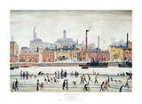Nordische Flussszene Kunstdruck von Laurence Stephen Lowry