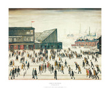 Going to the Match Konst av Laurence Stephen Lowry