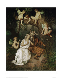 Titania in the Grip of her Fantastic Delusion Giclee Print by Rudolf Carl Huber