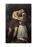 King Lear and Cordelia, 1835 Prints by Giuseppe Sogni
