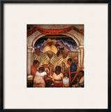 Rivera: Rain Framed Giclee Print by Diego Rivera