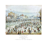 The Fair at Daisy Nook Poster von Laurence Stephen Lowry