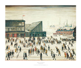 Going to the Match Art by Laurence Stephen Lowry