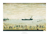 Waiting for the Tide Poster von Laurence Stephen Lowry