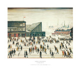 Going to the Match Poster di Laurence Stephen Lowry