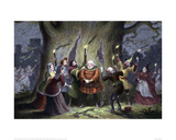 Falstaff in a Scene from The Merry Wives of Windsor Giclee Print by George Cruikshank