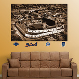 Tiger Stadium Historic Aerial Mural Wall Decal