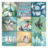 Beach Access - Nine Square Premium Giclée-tryk af Gregory Gorham