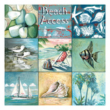Beach Access - Nine Square Premium Giclee Print by Gregory Gorham