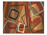 Twenty Tuesday I - Brown Square Abstract Reproduction procédé giclée par Jeni Lee