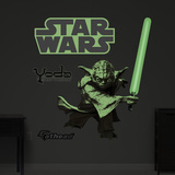 Yoda Glow in the Dark Wall Decal