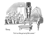 """Let's see him get out of this sonata."" - New Yorker Cartoon Premium Giclee Print by John Klossner"