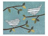 Aqua Songbirds II Giclée-Druck von Jeni Lee