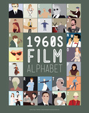 1960s Film Alphabet - A to Z Print by Stephen Wildish