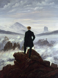 The Wanderer Above the Sea of Fog Wall Decal by Caspar David Friedrich