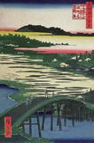 Sugatami Bridge Wall Decal by Ando Hiroshige