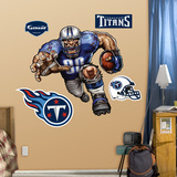Tennessee Titans Die Cut RB Liquid Blue Wall Decal