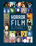 Horror Film Alphabet - A to Z Print by Stephen Wildish