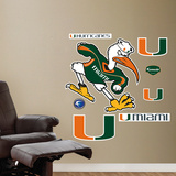 "Miami ""Sebastian"" Mascot   Wall Decal"