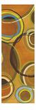 Sixteen Saturday Panel I - Yellow Circle Abstract Premium Giclee Print by Jeni Lee
