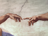 Hands of God and Adam Wall Decal by Michelangelo