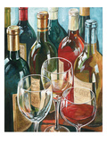 Wine Reflections I - Bottles and Glasses Premium Giclee Print by Gregory Gorham