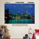 New York City Twin Towers Nightscape Mural Wall Decal