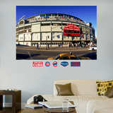 Chicago Cubs Wrigley Field Exterior Stadium Mural   Wall Decal