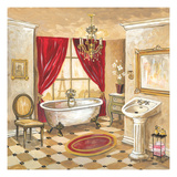 Parisian Bath - Red Giclee Print by Gregory Gorham