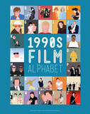 1990s Film Alphabet - A to Z Posters by Stephen Wildish
