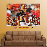 Redskins Helmets Mural Wall Decal