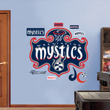 Washingon Mystics Logo   Wall Decal