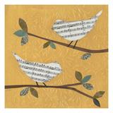 Golden Songbirds II Print by Jeni Lee