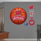 University of Wisconsin Basketball Logo   Wall Decal
