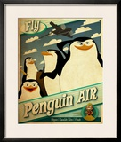 Madagascar: Penguin Air Limited Edition Framed Print by Kirk Sanders