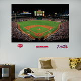 Atlanta Braves Turner Field Stadium Mural   Wall Decal