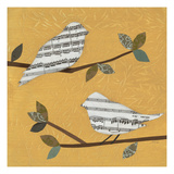 Golden Songbirds I Prints by Jeni Lee