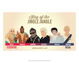 King of the Jingle Jangle Poster by Stephen Wildish