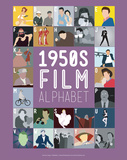 1950s Film Alphabet - A to Z Prints by Stephen Wildish