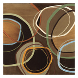 14 Friday Square I - Brown Circle Abstract Prints by Jeni Lee