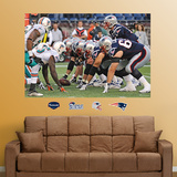 Patriots-Dolphins Line of Scrimmage Mural Wall Decal