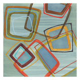 River Run II - Blue Square Abstract Giclee Print by Jeni Lee