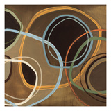 14 Friday Square II - Brown Circle Abstract Print by Jeni Lee